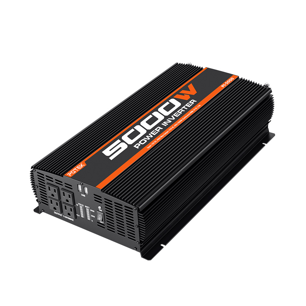 Potek 5000W Power Inverter - Black