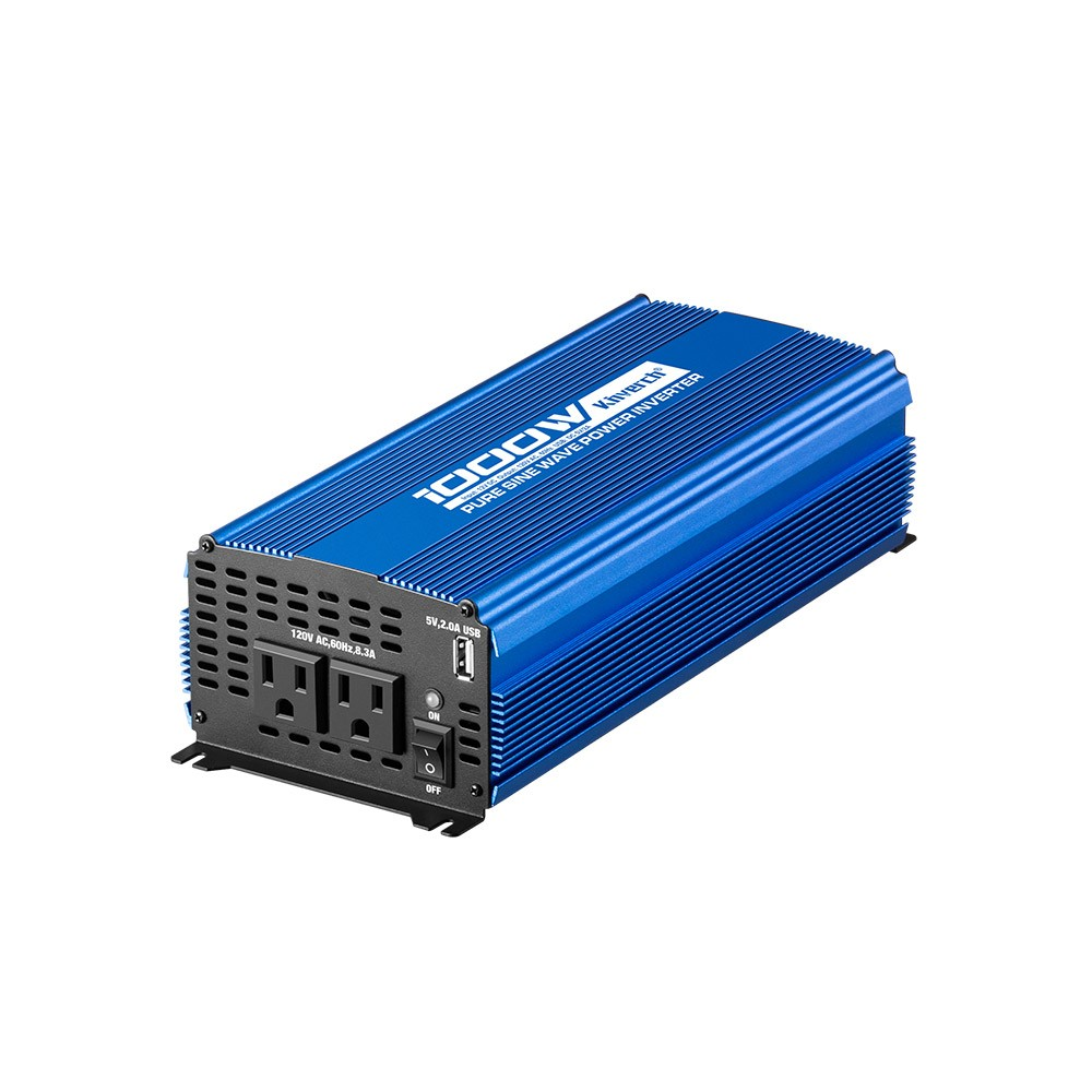 Kinverch 1000W Continuous/ 2000W Peak Pure Sine Wave Inverter DC 12V to AC 110V Car Power Inverter